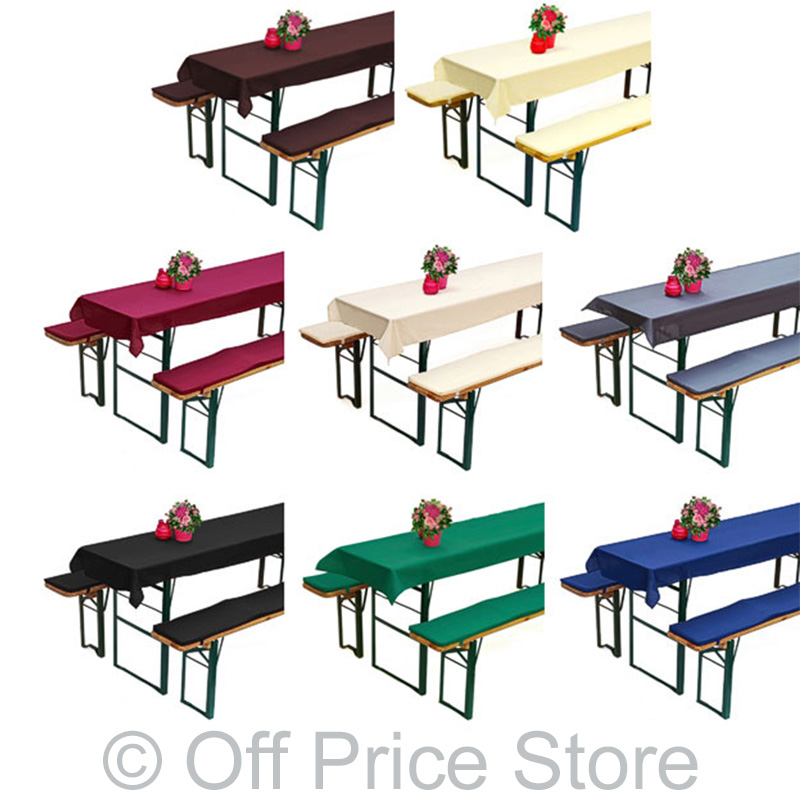 auflage bierzeltgarnitur biertisch bierbank div farben ebay. Black Bedroom Furniture Sets. Home Design Ideas