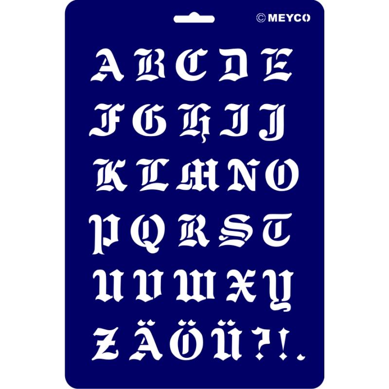 Schablonen Schreibschablonen Zahlen Buchstaben Schriftschablone