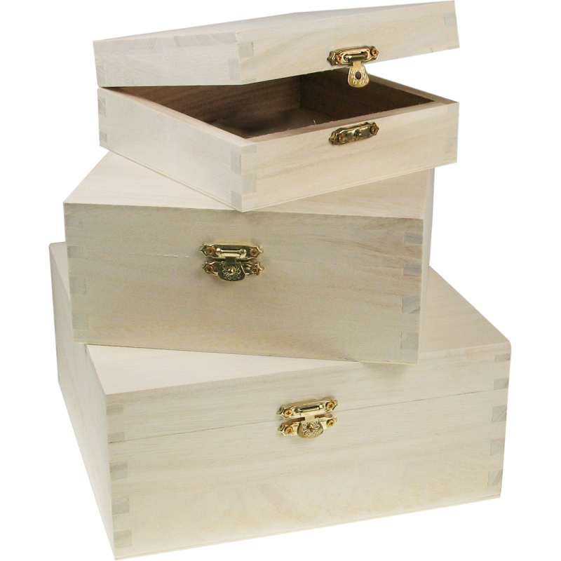 3er oder 2er set holzdosen holzbox truhe aufbewahrung deko stapelbox box boxen ebay. Black Bedroom Furniture Sets. Home Design Ideas