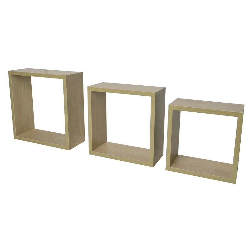 3er set cube cubes w rfel regal wandboard wandregal h ngeregal b cherregal ebay. Black Bedroom Furniture Sets. Home Design Ideas