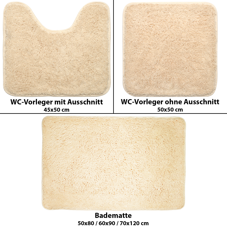 Duschvorleger Weich ~  Microfaser WCVorleger mit & ohne Ausschnitt Badeteppich Duschvorleger