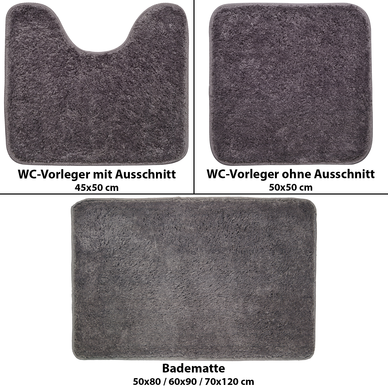 badematte microfaser wc vorleger mit ohne ausschnitt badeteppich duschvorleger ebay. Black Bedroom Furniture Sets. Home Design Ideas