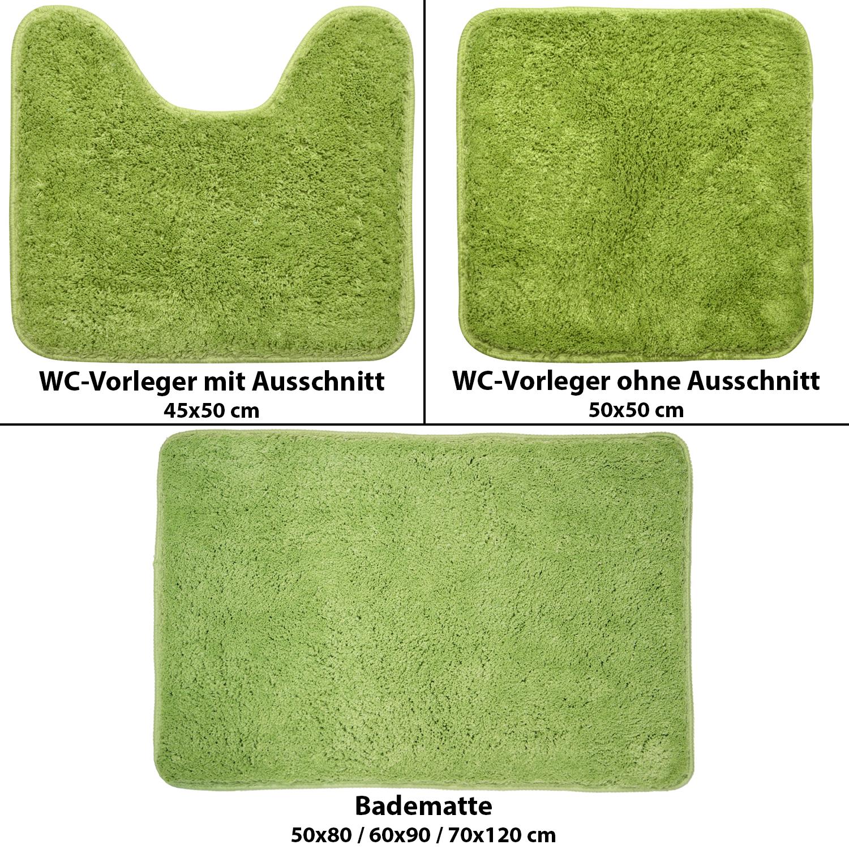 Microfaser WCVorleger mit & ohne Ausschnitt Badeteppich Duschvorleger