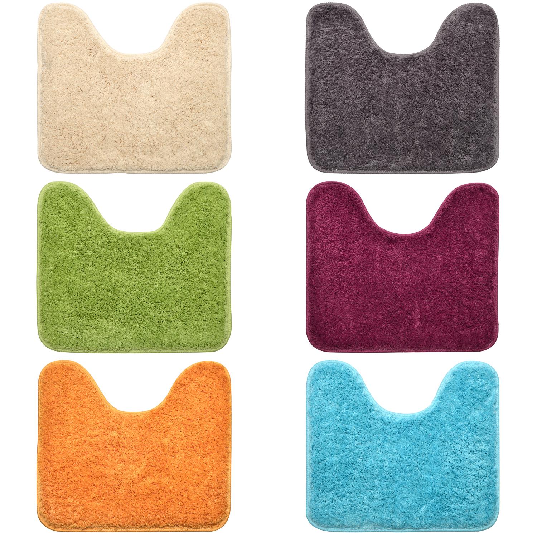 wc vorleger mit ohne ausschnitt 45x50 50x50 microfaser wc matte badematte ebay. Black Bedroom Furniture Sets. Home Design Ideas