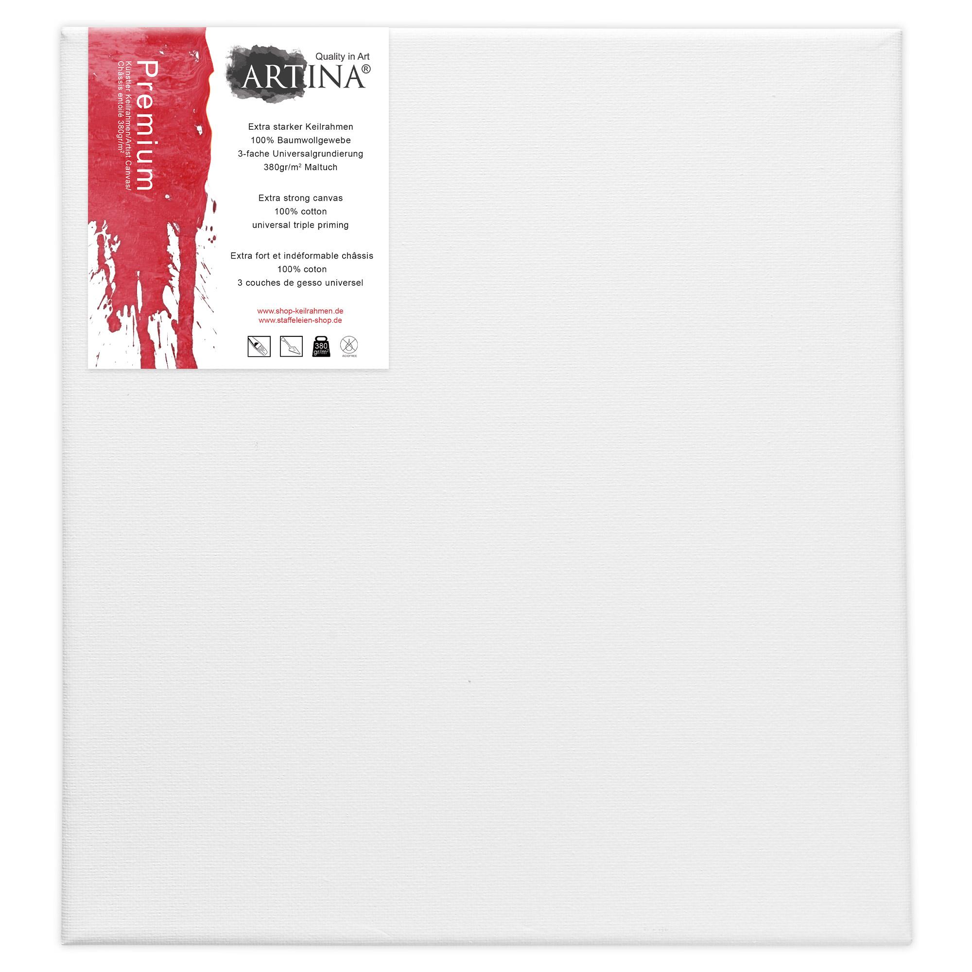 Leinwand auf keilrahmen leinw nde zum malen premiumqualit t k nstlerbedarf 380g ebay - Leinwand zum malen ...