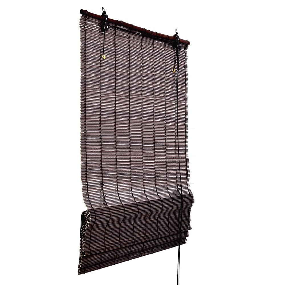 bambus rollo 160 cm lang bambusrollo kordel raffrollo f r fenster sichtschutz ebay. Black Bedroom Furniture Sets. Home Design Ideas