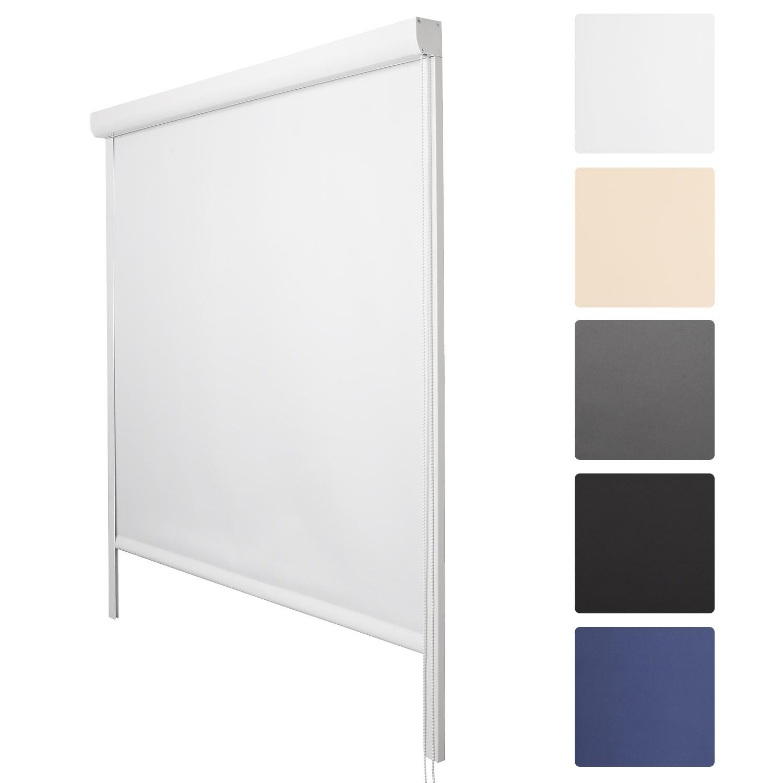 verdunkelungsrollo thermo kassettenrollo thermorollo fenster rollo ohne bohren ebay. Black Bedroom Furniture Sets. Home Design Ideas