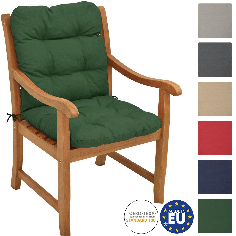 Niederlehner Auflagen Niedriglehner Gartenstuhl Stuhlauflage Stapelstuhl Polster