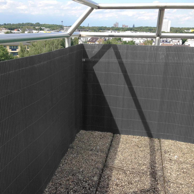 pvc sichtschutzzaun balkon zaun garten sichtschutzmatte. Black Bedroom Furniture Sets. Home Design Ideas