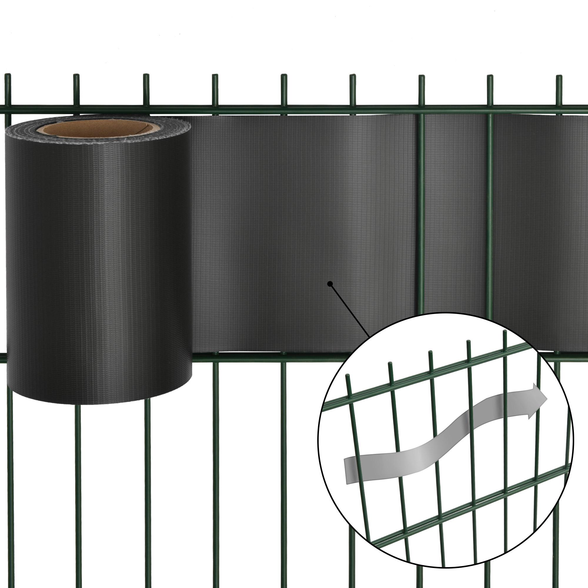 pvc sichtschutzstreifen 35m sichtschutz rolle f r doppelstabmatten zaunfolie ebay. Black Bedroom Furniture Sets. Home Design Ideas