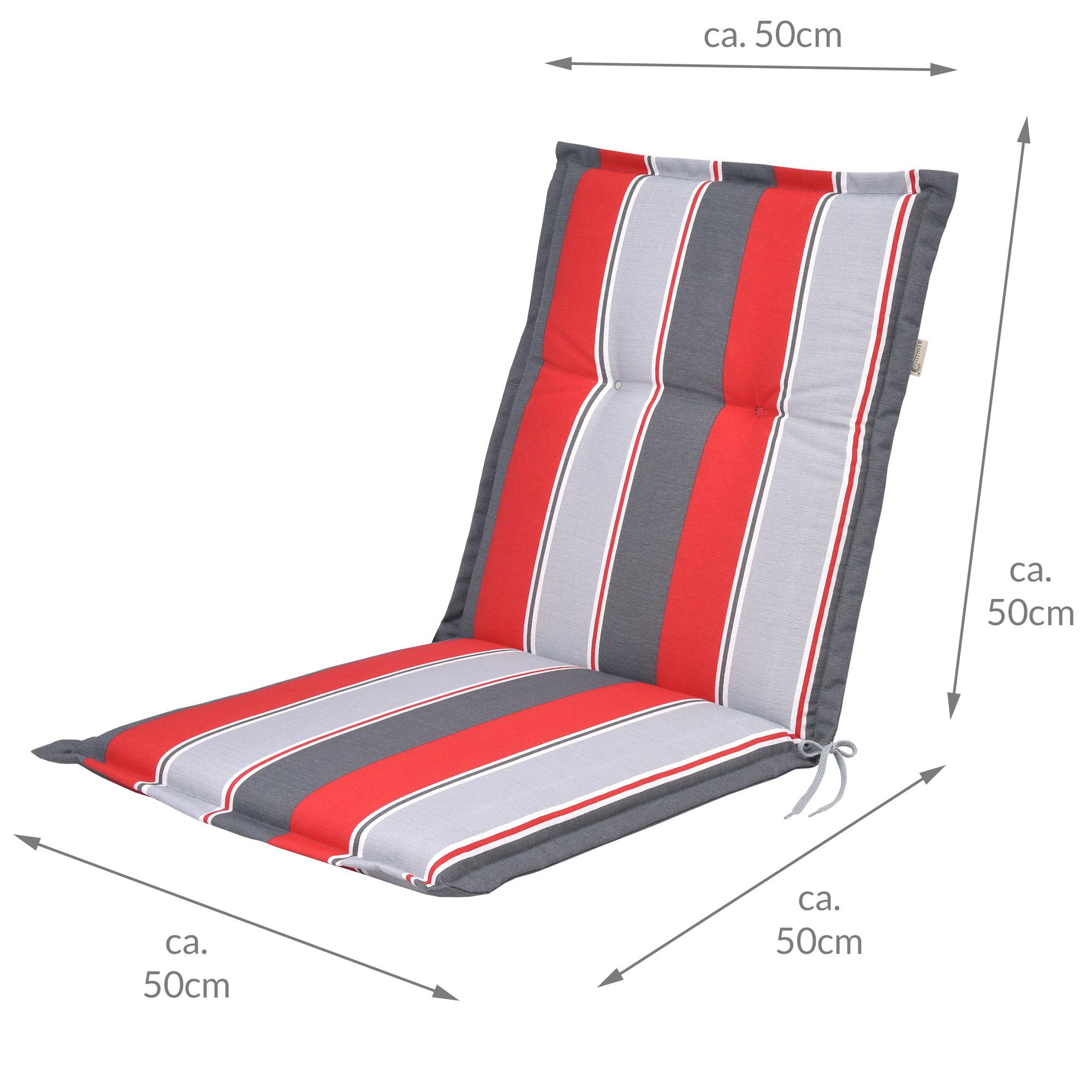 auflagen niedriglehner niederlehner kissen stuhlauflagen stapelstuhl gartenstuhl ebay. Black Bedroom Furniture Sets. Home Design Ideas