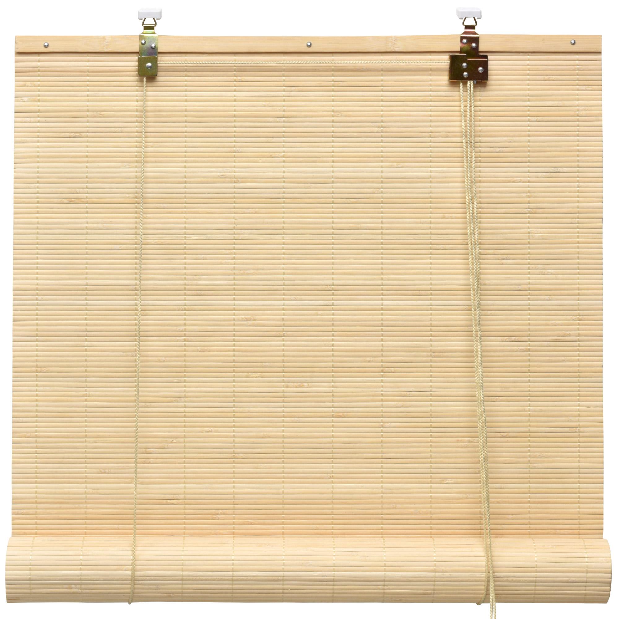 Bambus Holz Rollo Bambusrollo Raffrollo Fenster Sichtschutz Holzrollo Klemmfix Natur
