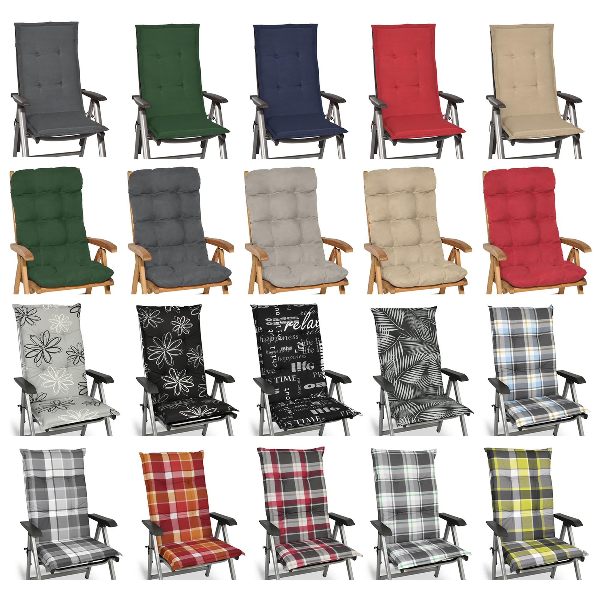 Gartenstühle Sessel Kissen Sitzkissen Polster Auflagen Hochlehner 40*110cm